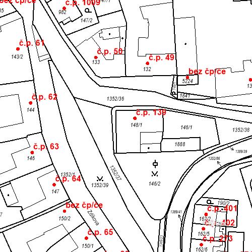Katastrální mapa Stavební objekt Blansko 139, Blansko