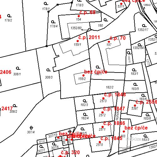 Katastrální mapa Stavební objekt Blansko 69, Blansko