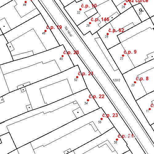 Katastrální mapa Stavební objekt Holásky 21, Brno