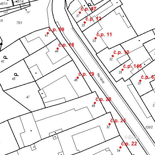 Katastrální mapa Stavební objekt Holásky 19, Brno