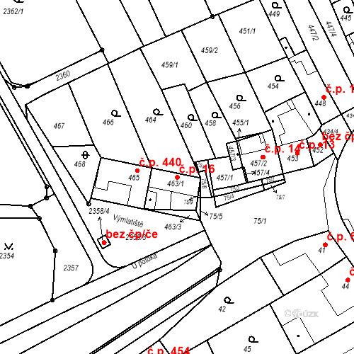 Katastrální mapa Stavební objekt Holásky 16, Brno