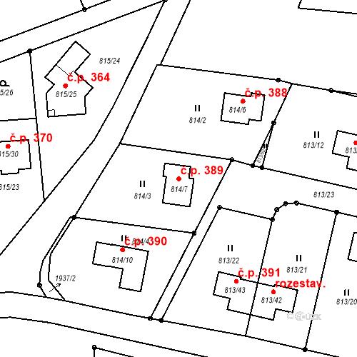 Katastrální mapa Stavební objekt Bořitov 389, Bořitov