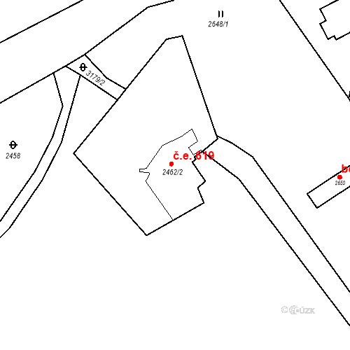 Katastrální mapa Stavební objekt Blučina 619, Blučina