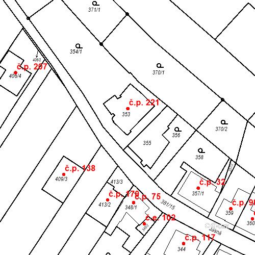 Katastrální mapa Stavební objekt Ořešín 84, Brno