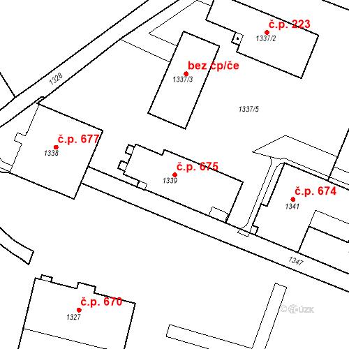 Katastrální mapa Stavební objekt Žamberk 675, Žamberk