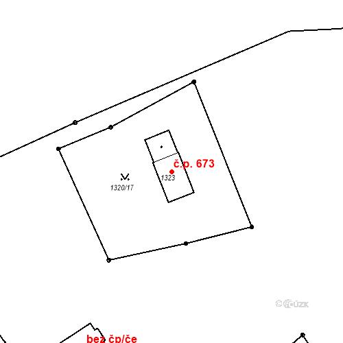 Katastrální mapa Stavební objekt Žamberk 673, Žamberk