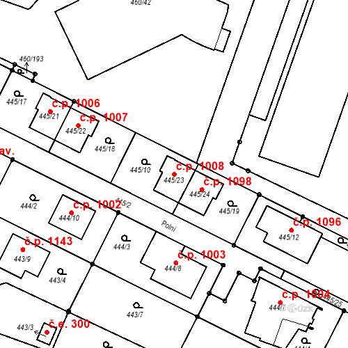 Katastrální mapa Stavební objekt Modřice 1008, Modřice