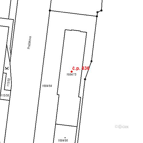 Katastrální mapa Stavební objekt Štýřice 836, Brno