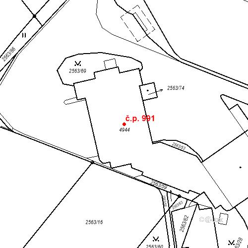 Katastrální mapa Stavební objekt Žamberk 991, Žamberk