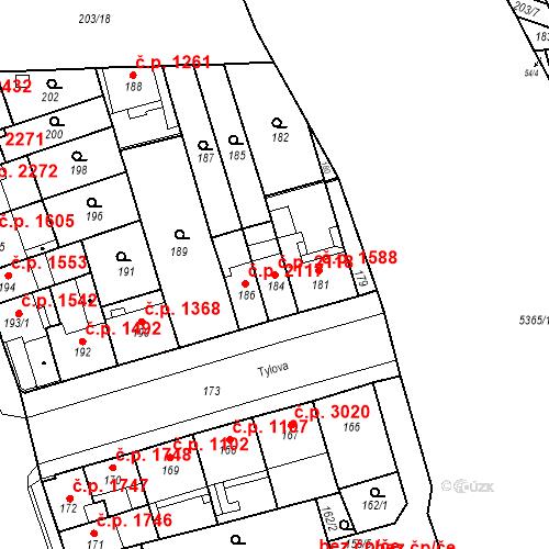 Katastrální mapa Stavební objekt Královo Pole 2118, Brno