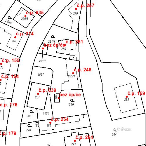 Katastrální mapa Stavební objekt Lelekovice 248, Lelekovice