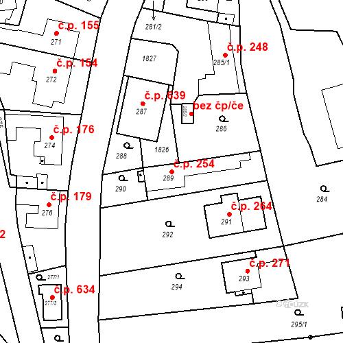 Katastrální mapa Stavební objekt Lelekovice 254, Lelekovice