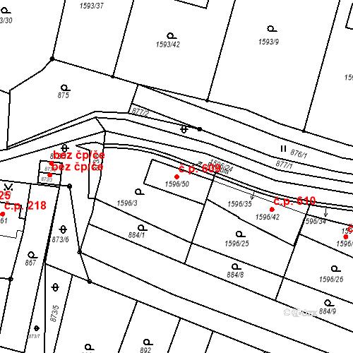 Katastrální mapa Stavební objekt Lelekovice 609, Lelekovice