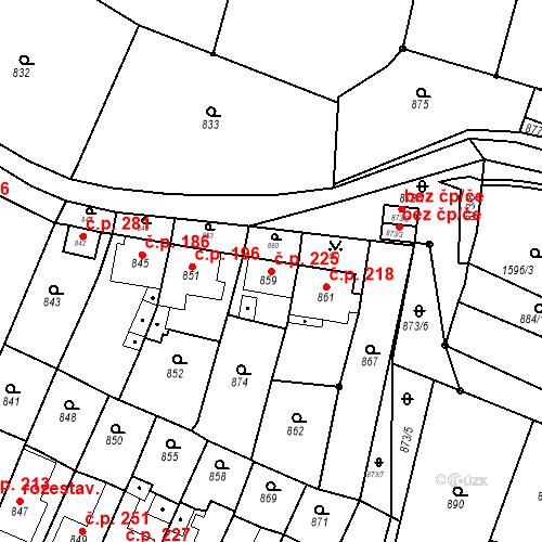 Katastrální mapa Stavební objekt Lelekovice 225, Lelekovice