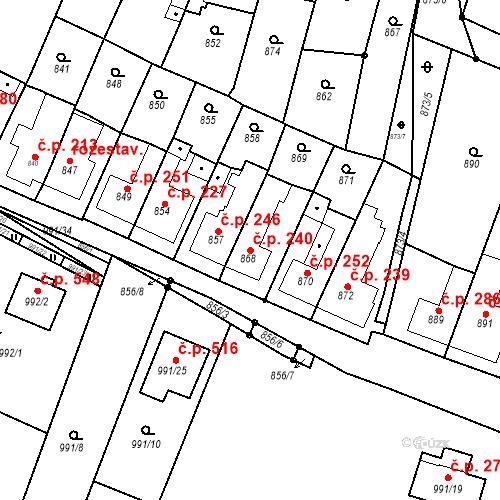 Katastrální mapa Stavební objekt Lelekovice 240, Lelekovice