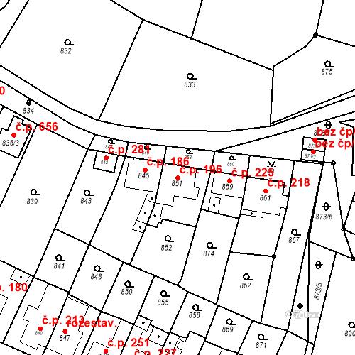 Katastrální mapa Stavební objekt Lelekovice 196, Lelekovice