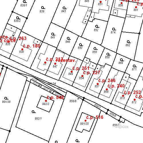 Katastrální mapa Stavební objekt Lelekovice 251, Lelekovice