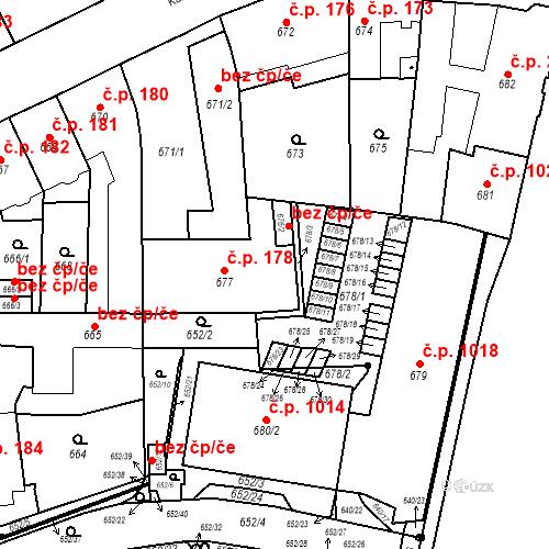 Katastrální mapa Stavební objekt Štýřice 178, Brno