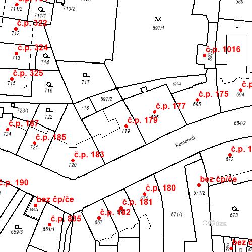Katastrální mapa Stavební objekt Štýřice 179, Brno