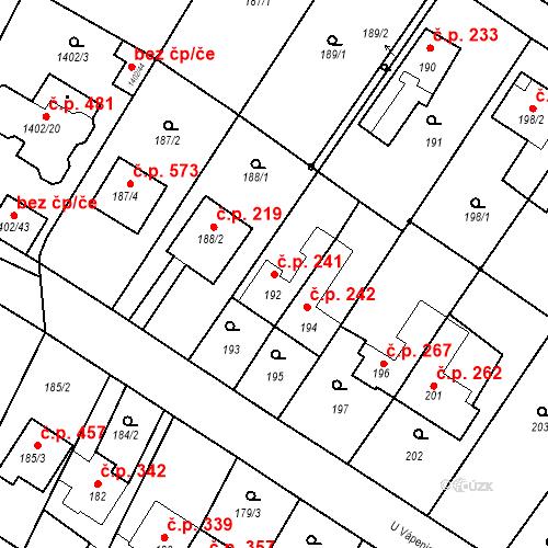 Katastrální mapa Stavební objekt Lelekovice 241, Lelekovice