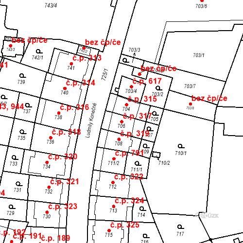 Katastrální mapa Stavební objekt Štýřice 317, Brno