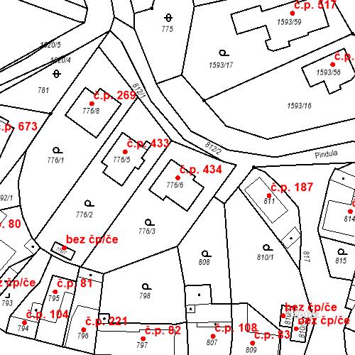 Katastrální mapa Stavební objekt Lelekovice 434, Lelekovice