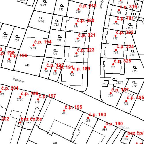 Katastrální mapa Stavební objekt Štýřice 189, Brno