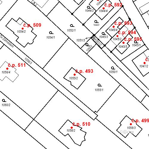 Katastrální mapa Stavební objekt Lelekovice 493, Lelekovice