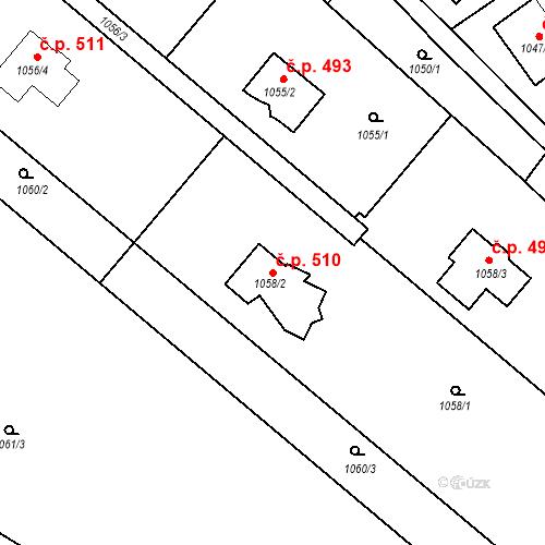 Katastrální mapa Stavební objekt Lelekovice 510, Lelekovice