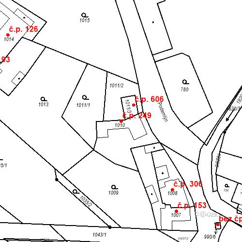 Katastrální mapa Stavební objekt Lelekovice 249, Lelekovice