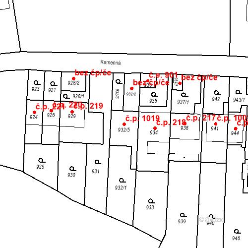 Katastrální mapa Stavební objekt Štýřice 1019, Brno