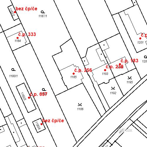 Katastrální mapa Stavební objekt Lelekovice 256, Lelekovice