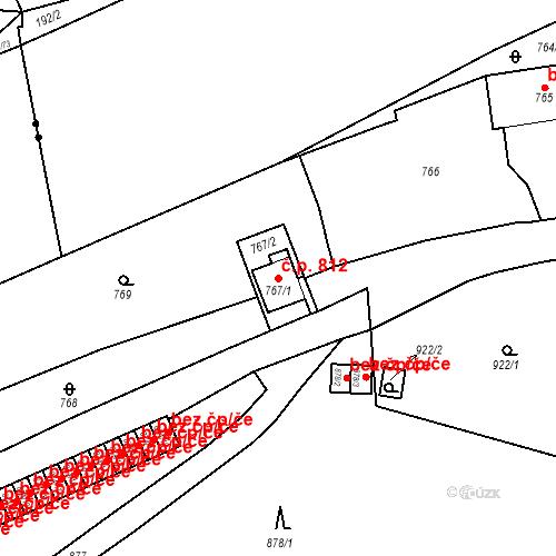 Katastrální mapa Stavební objekt Štýřice 812, Brno