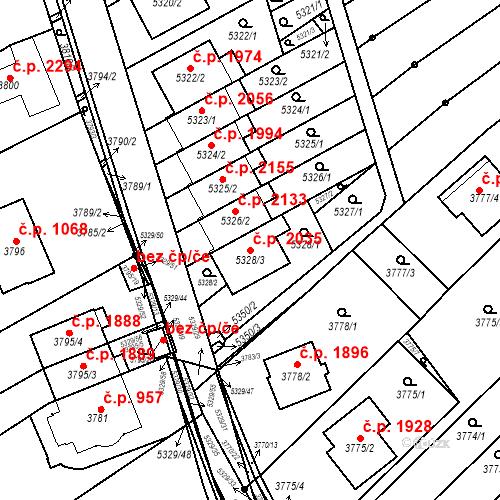 Katastrální mapa Stavební objekt Řečkovice 2035, Brno