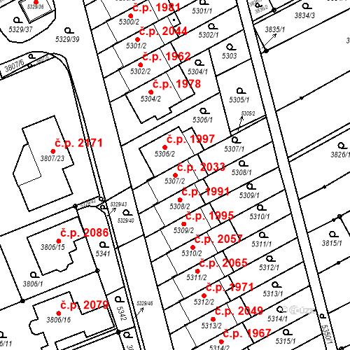 Katastrální mapa Stavební objekt Řečkovice 2033, Brno