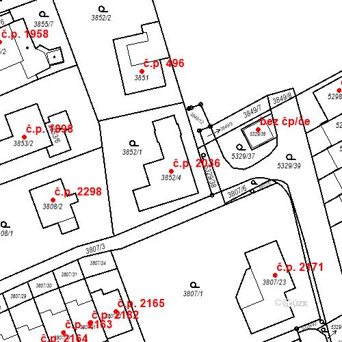 Katastrální mapa Stavební objekt Řečkovice 2036, Brno