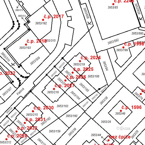Katastrální mapa Stavební objekt Řečkovice 2025, Brno
