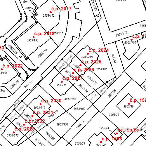 Katastrální mapa Stavební objekt Řečkovice 2026, Brno
