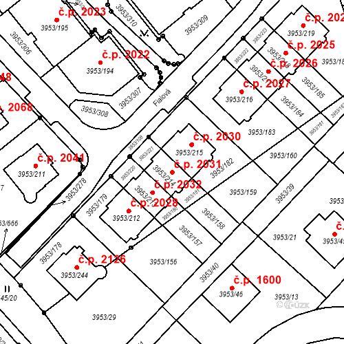 Katastrální mapa Stavební objekt Řečkovice 2031, Brno