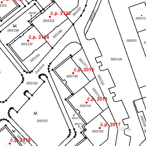 Katastrální mapa Stavební objekt Řečkovice 2015, Brno