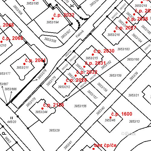 Katastrální mapa Stavební objekt Řečkovice 2032, Brno