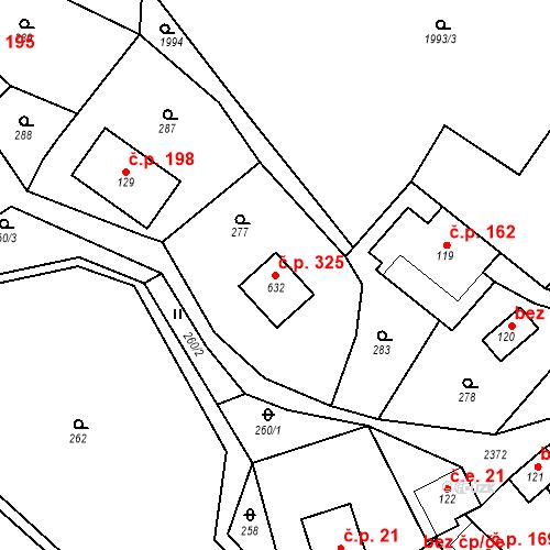 Katastrální mapa Stavební objekt Hnátnice 325, Hnátnice