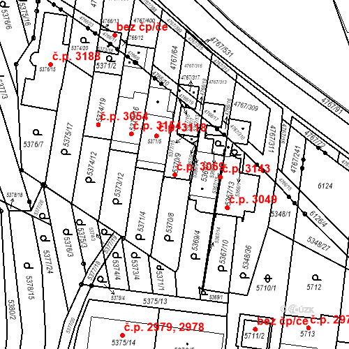 Katastrální mapa Stavební objekt Žabovřesky 3069, Brno