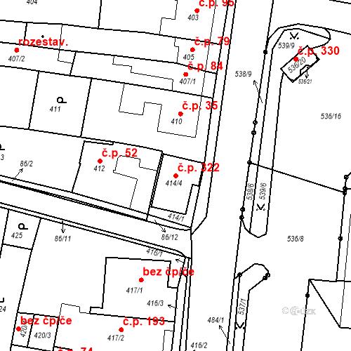 Katastrální mapa Stavební objekt Lipůvka 322, Lipůvka