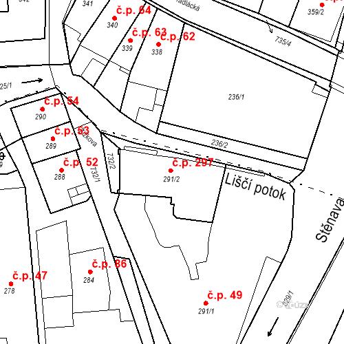 Katastrální mapa Stavební objekt Nové Město 297, Broumov