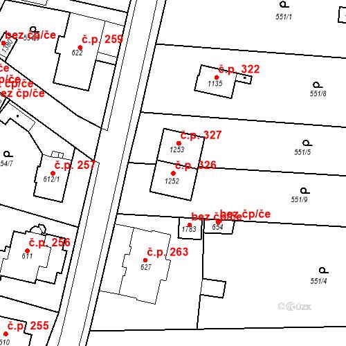 Katastrální mapa Stavební objekt Olivětín 326, Broumov