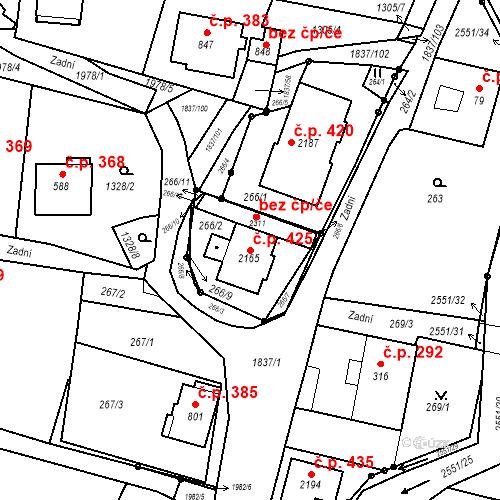 Katastrální mapa Stavební objekt Lačnov 425, Svitavy