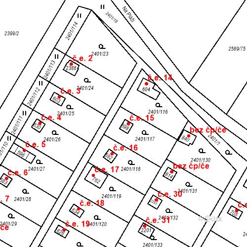 Katastrální mapa Stavební objekt Lačnov 15, Svitavy