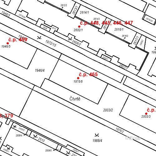 Katastrální mapa Stavební objekt Nový Lískovec 465, Brno