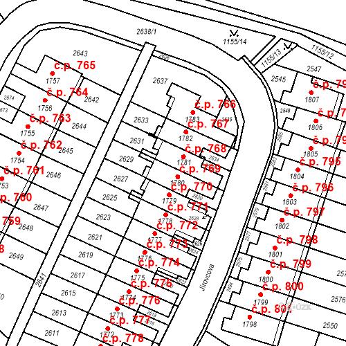 Katastrální mapa Stavební objekt Kohoutovice 769, Brno